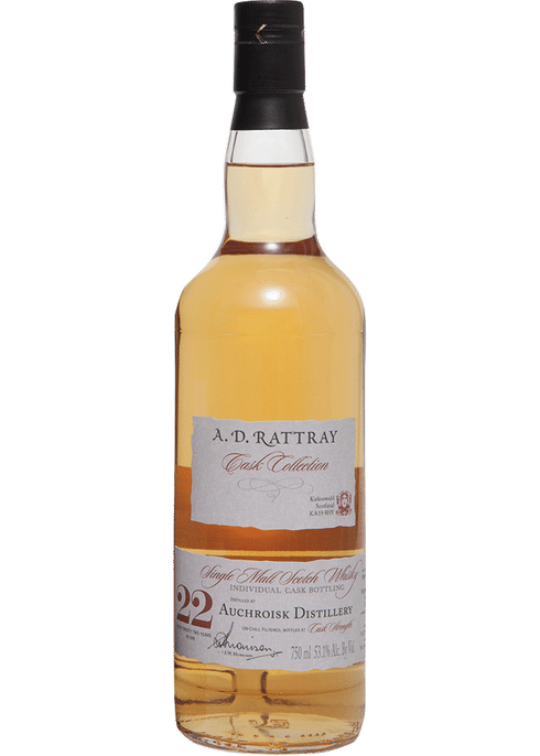 Bottle of A D Rattray Auchroisk 22 Yr whiskey