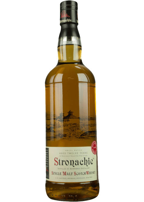 Bottle of A D Rattray Stronachie 12yr whiskey
