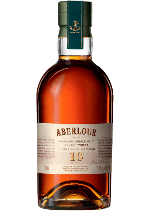 Bottle of Aberlour 16 Yr whiskey