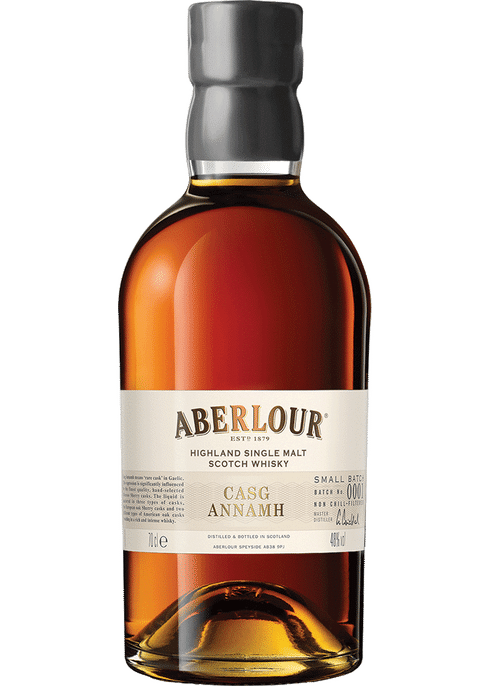 Bottle of Aberlour Casg Annamh whiskey