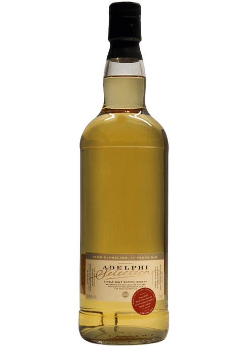 Bottle of Adelphi Clynelish 17 year old 1996 whiskey