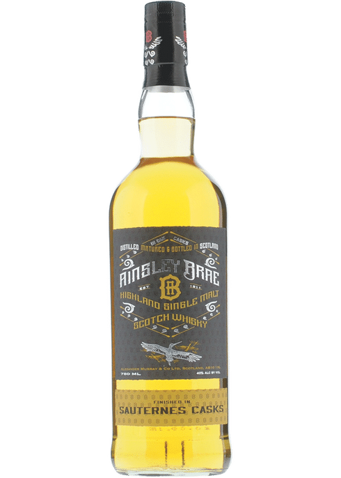 Bottle of Ainsley Brae Sauternes Cask Finish whiskey