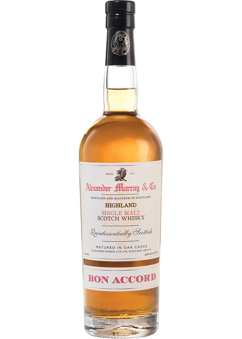 Bottle of Alexander Murray Bon Accord whiskey