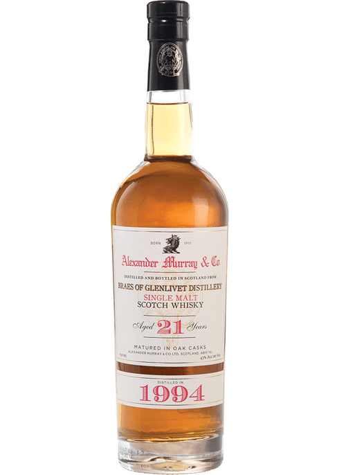 Bottle of Alexander Murray Braes of Glenlivet 21 Yr whiskey