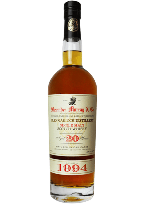 Bottle of Alexander Murray Glen Garioch 20Yr whiskey