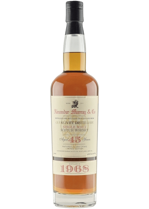 Bottle of Alexander Murray Glenlivet 45 Yr whiskey