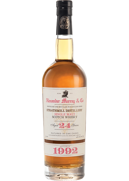 Bottle of Alexander Murray Strathmill 24 Yr whiskey