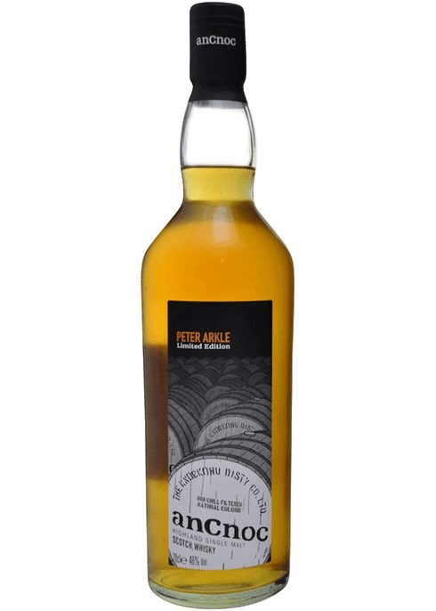 Bottle of AnCnoc Peter Arkle 2nd Edition whiskey