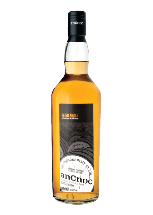 Bottle of AnCnoc Peter Arkle whiskey