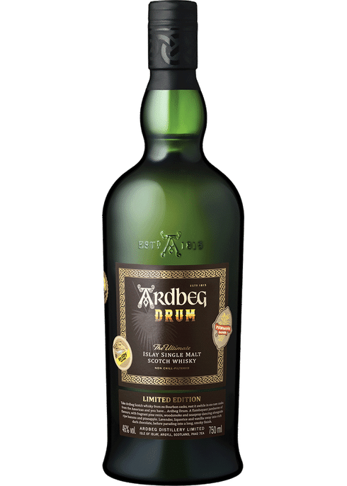 Bottle of Ardbeg Drum whiskey