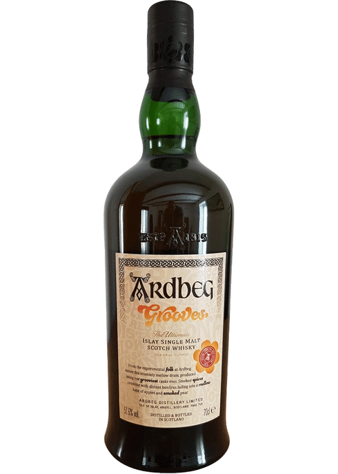 Bottle of Ardbeg Grooves Committee Release whiskey