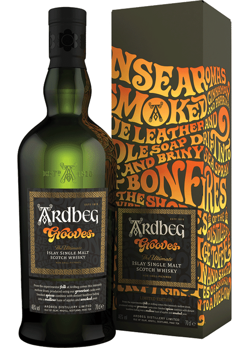 Bottle of Ardbeg Grooves whiskey