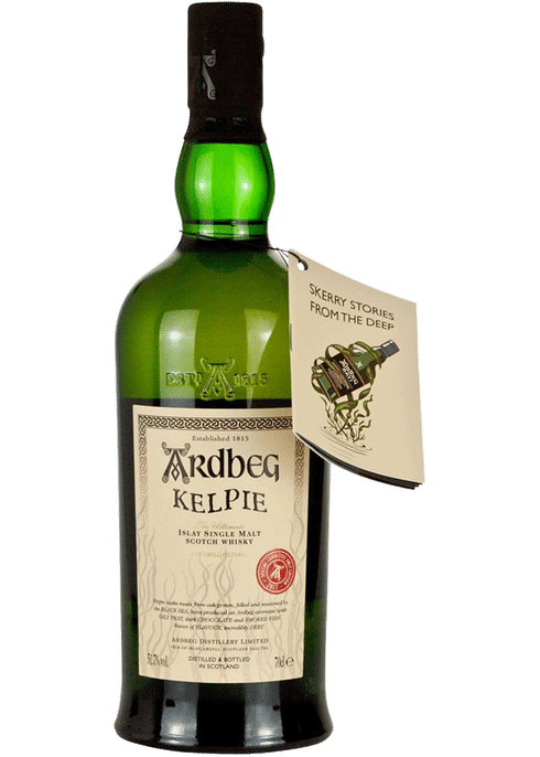 Bottle of Ardbeg Kelpie whiskey