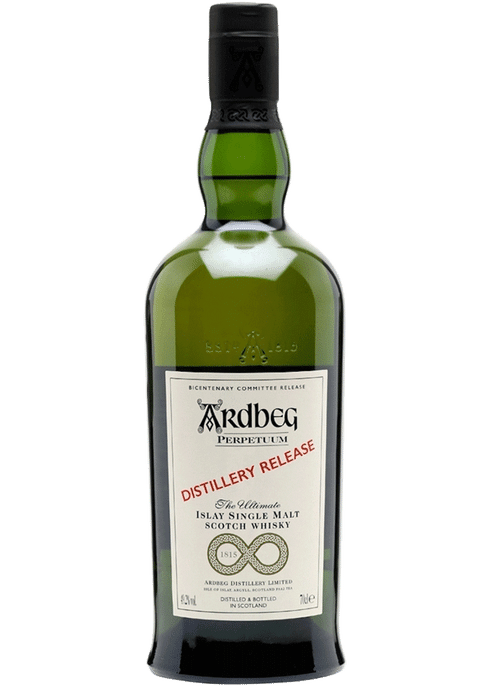 Bottle of Ardbeg Perpetuum whiskey