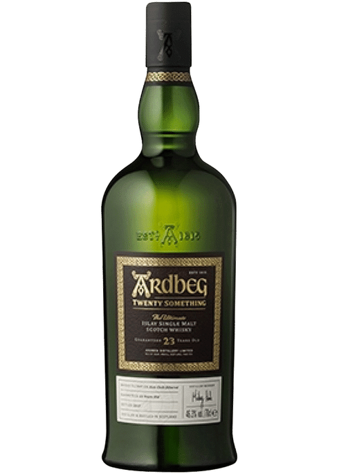 Bottle of Ardbeg Twenty Something 23 Yr whiskey
