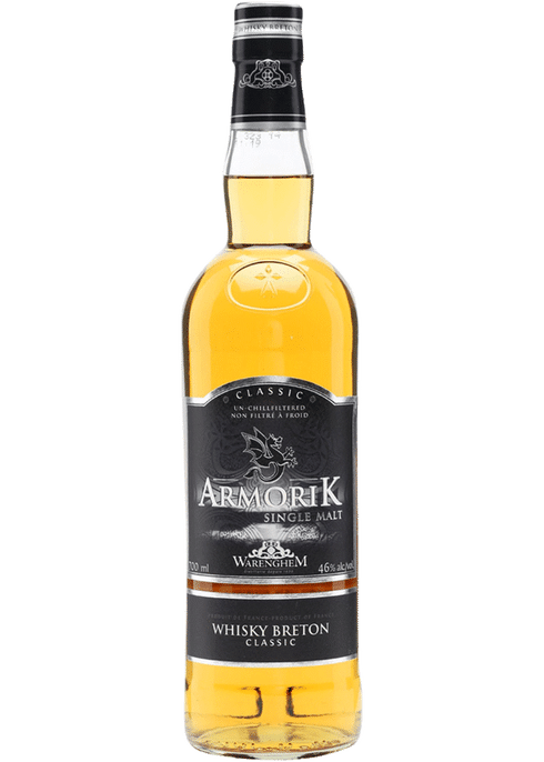 Bottle of Armorik Single Malt Whisky whiskey