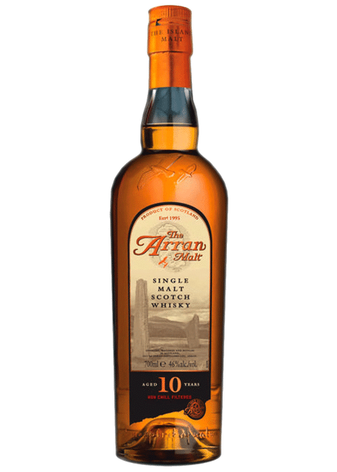 Bottle of Arran 10 year old Malt whiskey
