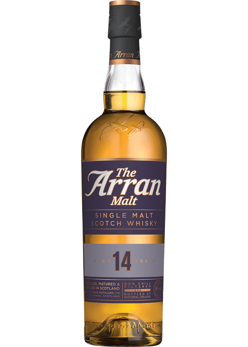 Bottle of Arran 14 Yr whiskey