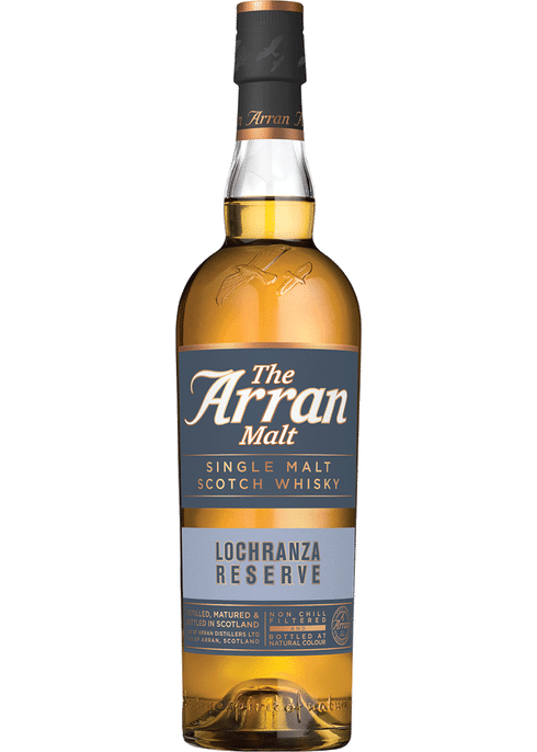 Bottle of Arran Lochranza Reserve whiskey