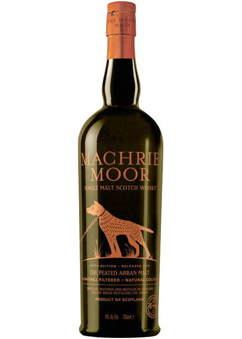 Bottle of Arran Machrie Moor Single Malt Scotch whiskey