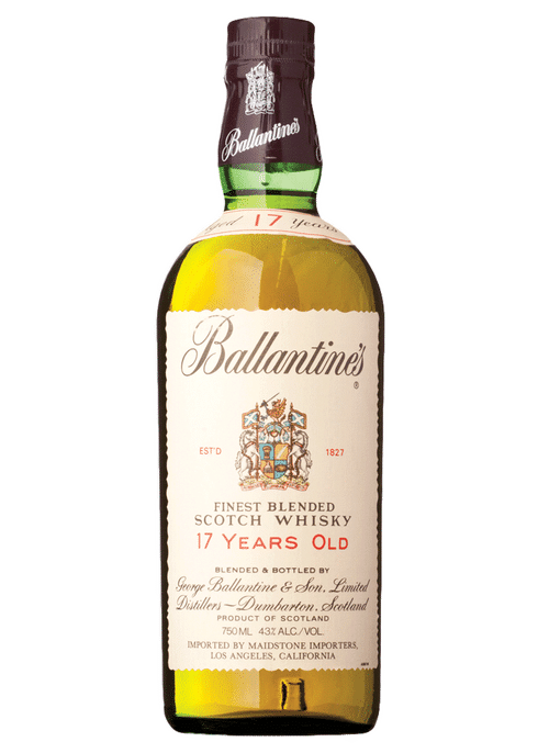 Bottle of Ballantine 17 year old Old whiskey