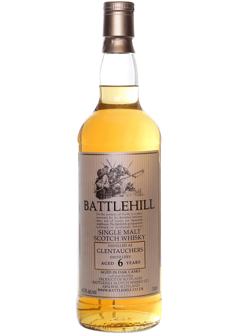 Bottle of Battlehill Glentauchers 6 Yr whiskey