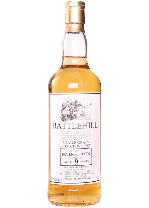 Bottle of Battlehill Invergordon 9 Yr whiskey