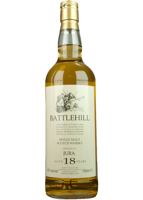 Bottle of Battlehill Jura 18 Yr whiskey