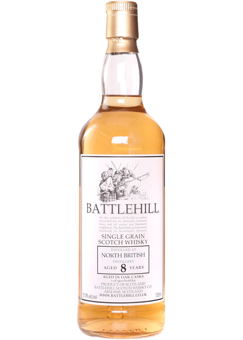 Bottle of Battlehill North British 8 Yr whiskey