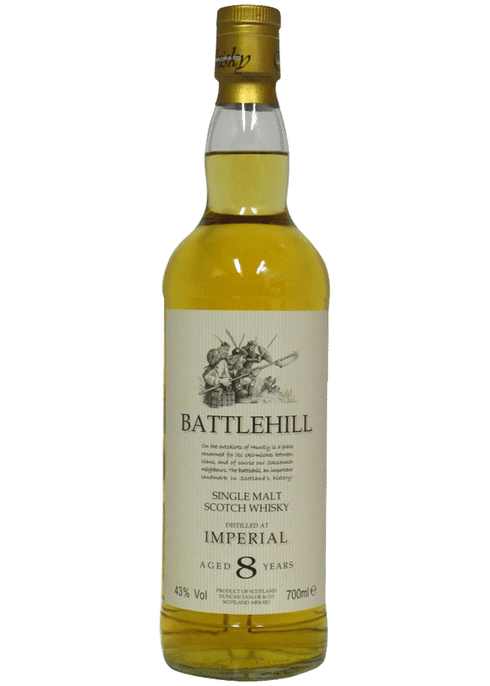 Bottle of Battlehill Tomatin 8yr whiskey