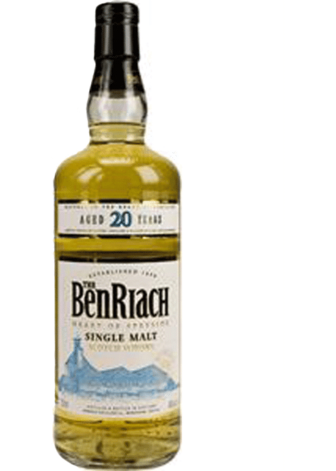 Bottle of BenRiach 20 Yr whiskey