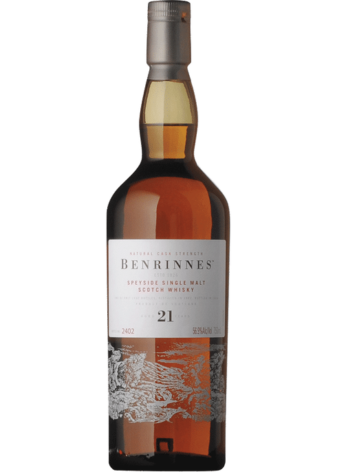 Bottle of Benrinnes 21 Yr whiskey