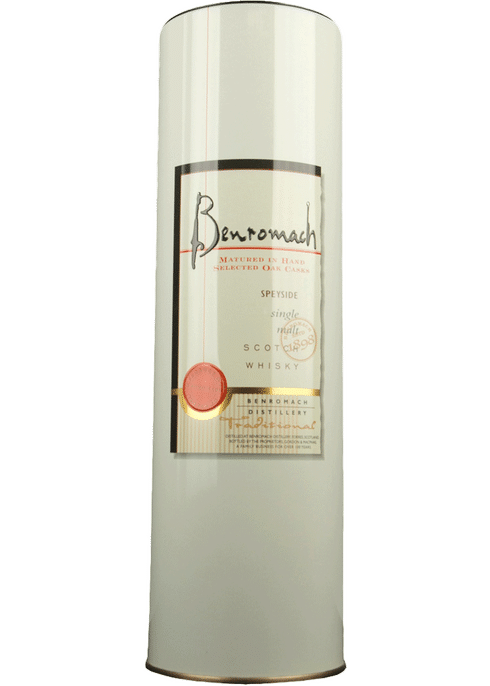 Bottle of Benromach Traditional Scotch whiskey