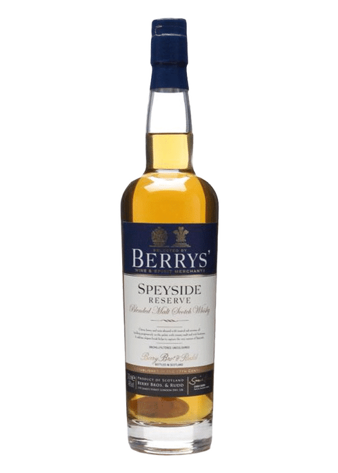 Bottle of Berry Brothers & Rudd Speyside Reserve whiskey