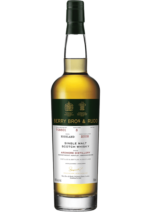 Bottle of Berrys' Ardmore 8yr whiskey
