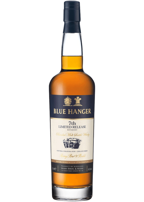 Bottle of Blue Hanger 7th Edition whiskey