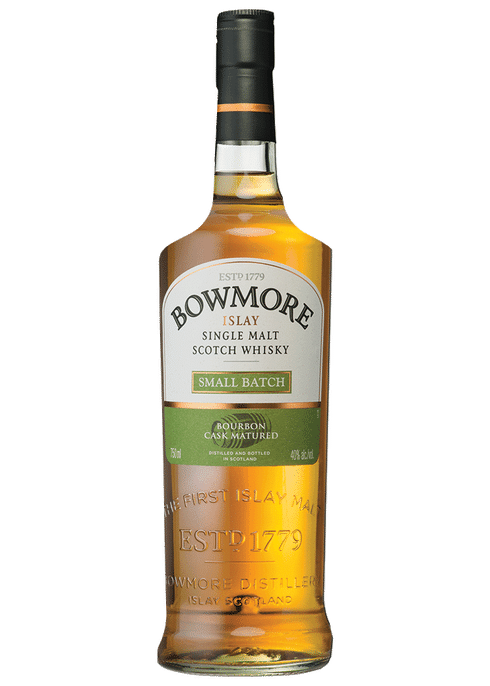 Bottle of Bowmore Small Batch whiskey