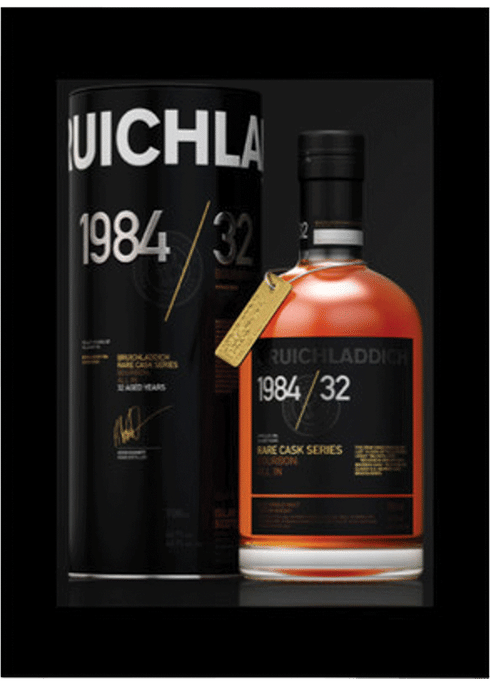 Bottle of Bruichladdich Old & Rare 1984 32 Years Old whiskey