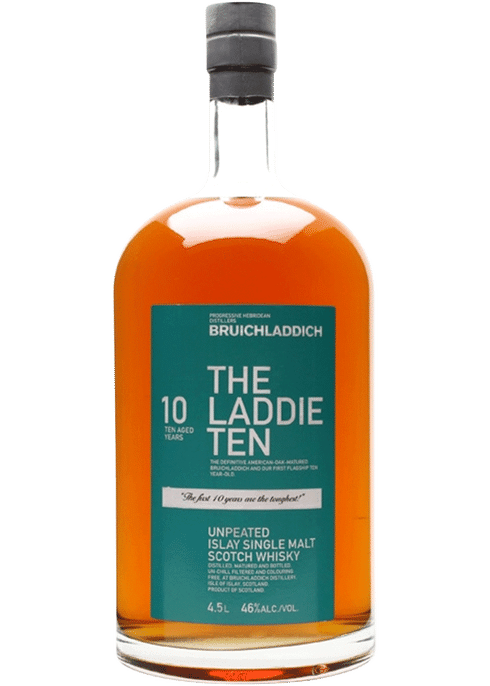 Bottle of Bruichladdich The Laddie 10 Years Old whiskey