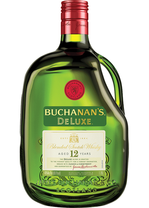 Bottle of Buchanan's 12 Years Old whiskey