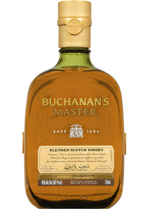 Bottle of Buchanan's Master whiskey
