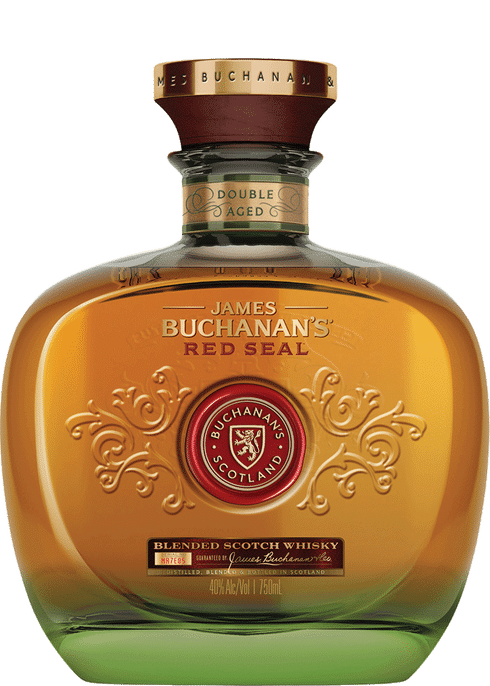 Bottle of Buchanan's Red Seal 21 year old Scotch whiskey