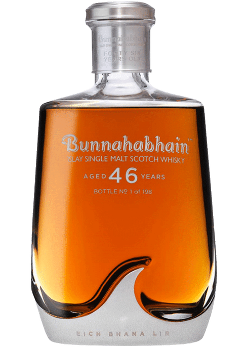 Bottle of Bunnahabhain 46 Years Old whiskey