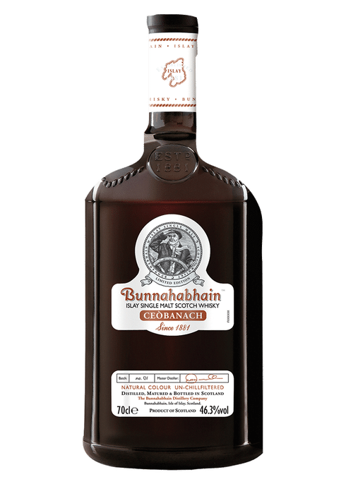 Bottle of Bunnahabhain Ceobanach whiskey