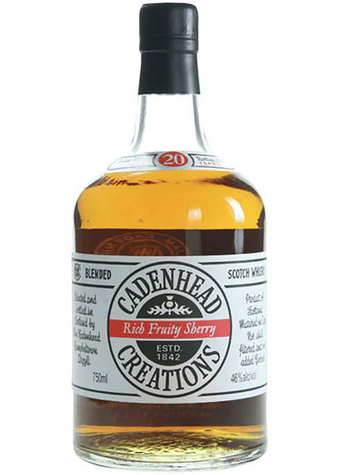 Bottle of Cadenhead's Creations 20 Year whiskey
