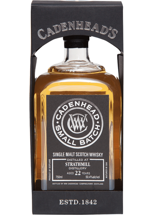 Bottle of Cadenhead's Strathmill 22 Years Old whiskey