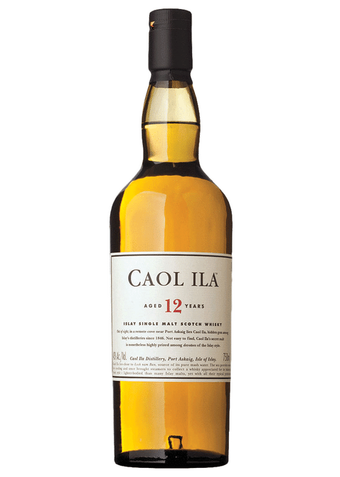 Bottle of Caol Ila 12 Years Old whiskey