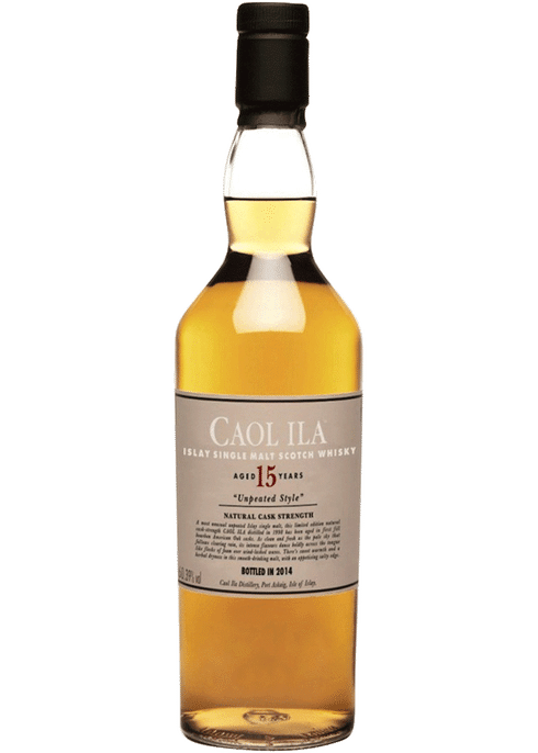 Bottle of Caol Ila 15 Years Old whiskey