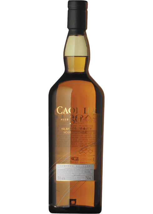 Bottle of Caol Ila 30 Years Old whiskey
