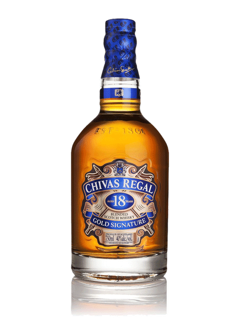 Bottle of Chivas Regal 18 Years Old whiskey